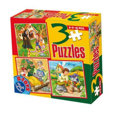 3 Puzzle Basme (6,9,16 pcs) 5