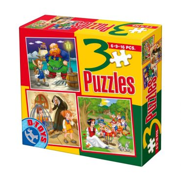 3 Puzzle Basme (6,9,16 pcs) 8