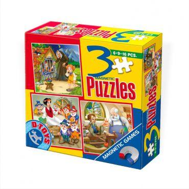 3 Puzzle Magnetic Basme (6,9,16 pcs)