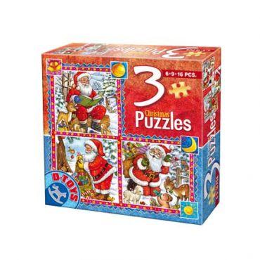 3 Puzzle Craciun (6,9,16 pcs) 1