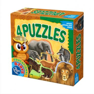 4 Puzzles - Animale Sălbatice