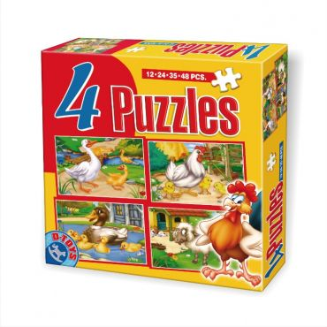 4 Puzzle Maxi Animale (12,24,35,48 pcs)