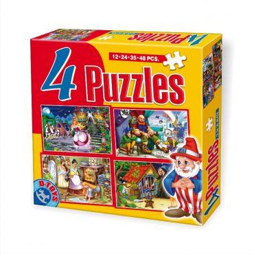 4 Puzzle Maxi Basme (12,24,35,48 pcs)