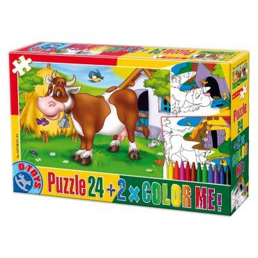 Puzzle 24 Color Me Animale 1