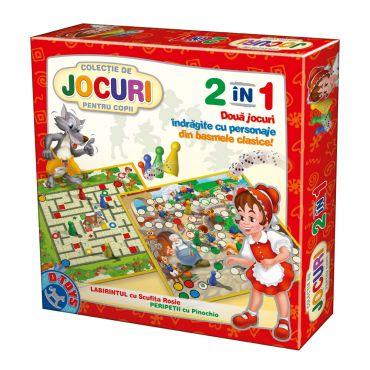 Colecție de jocuri 2 în 1 - Scufița Roșie + Pinocchio