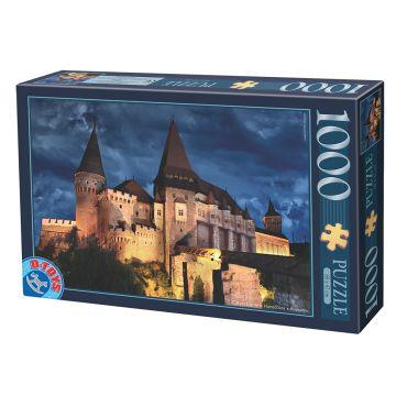 Puzzle - Imagini din Romania - Castelul Corvin Hunedoara - Noaptea - 1000 Piese