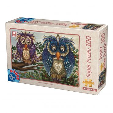 Puzzle - Owls - 100 Piese - 1