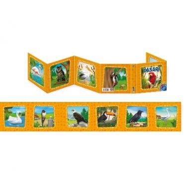"""Carte Pliantă """"Păsări"""""""