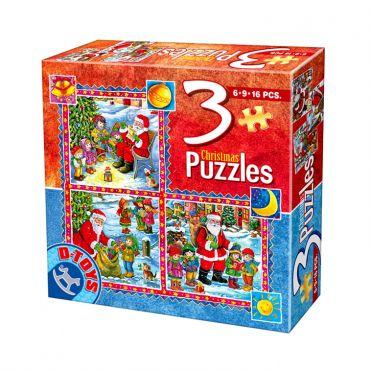 3 Puzzle Craciun (6,9,16 pcs) 2