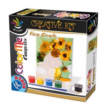 Color Me Canvas Van Gogh - Sunflowers