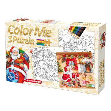 Color Me 3 Puzzle Craciun (6,9,16 pcs)