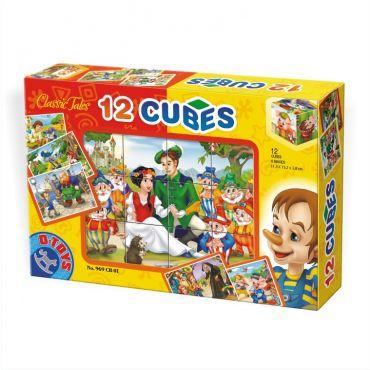 Cuburi 12 piese - Basme