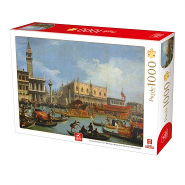 Puzzle Giovanni Antonio Canal - Bucentaur's Return to the Pier by the Palazzo Ducale - 1000 Piese