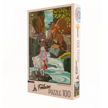 Puzzle - La Fontaine - Lupul si Mielul - 100 Piese