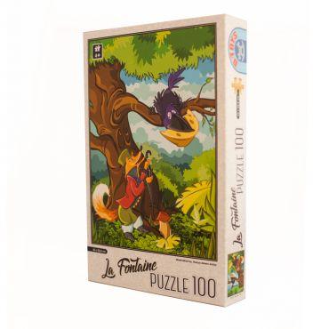 Puzzle - La Fontaine - Vulpea si Corbul - 100 Piese