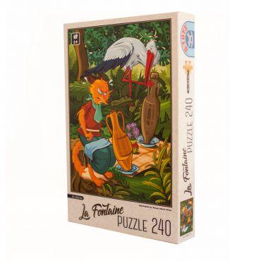 Puzzle - La Fontaine - Vulpea si Barza - 240 Piese