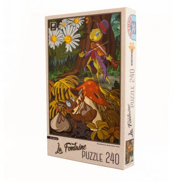 Puzzle - La Fontaine - Greierele si furnica - 240 Piese