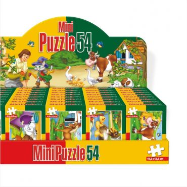 Mini Puzzle 54 Piese Animale Domestice/Sălbatice