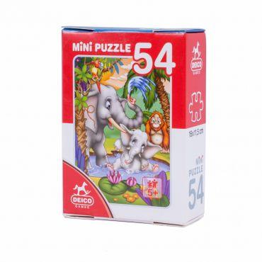 Mini Puzzle 54 Piese Animale - 2