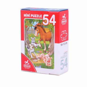 Mini Puzzle 54 Piese Animale - 3