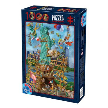 Puzzle Cartoon - New York - 1000 Piese