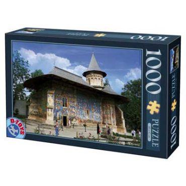 Puzzle - Imagini din Romania - Manastirea Voronet - 1000 Piese