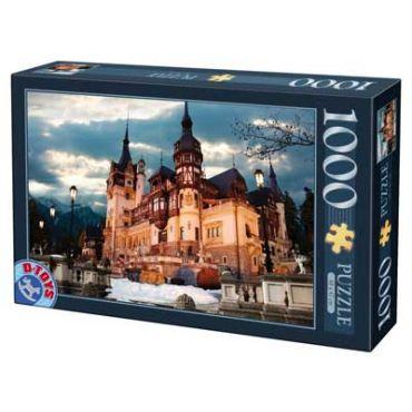 Puzzle - Imagini din Romania - Castelul Peles - Seara - 1000 Piese