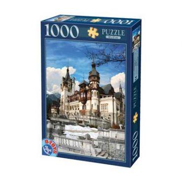 Puzzle - Imagini din Romania - Castelul Peles - Ziua - 1000 Piese