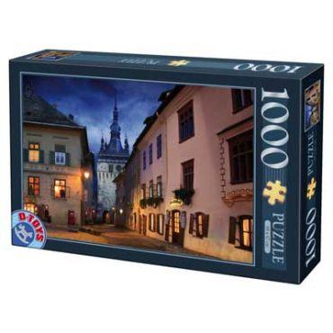 Puzzle - Imagini din Romania - Sighisoara - Noaptea - 1000 Piese