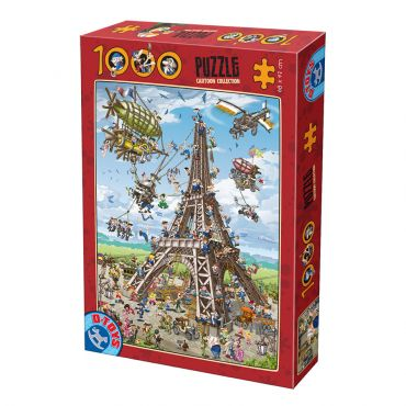 Puzzle 1000 pcs Cartoon - Eiffel Tower