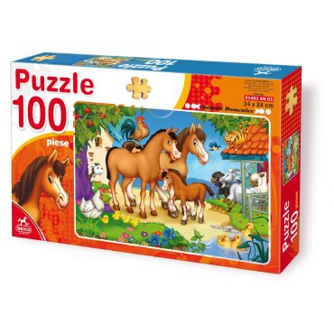 Puzzle 100 Piese Animale - 3
