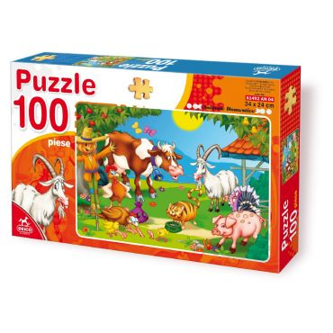 Puzzle 100 Piese Animale - 4