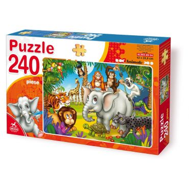 Puzzle 240 Piese Animale - 4