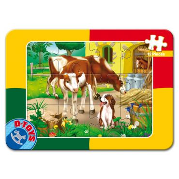 Puzzle 12 Piese Animale - 3