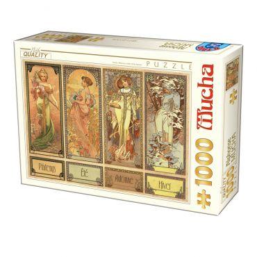 Puzzle Alphonse Mucha - Seasons 2 - 1000 piese