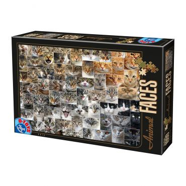 Puzzle - Animal Faces - Cats - 1000 Piese