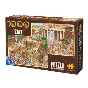 Puzzle 1000 pcs Cartoon 2 in 1