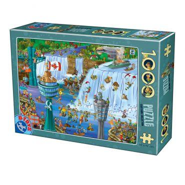 Puzzle Cartoon - Niagara - 1000 Piese