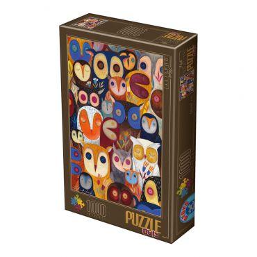 Puzzle 1000 Kürti Andrea Owls 2