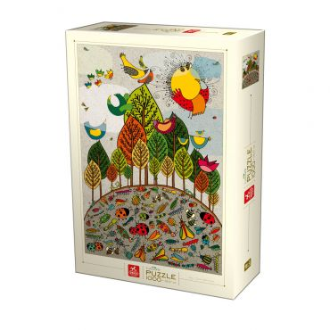 Nature Puzzle - Birds and Insects - 1000 piese