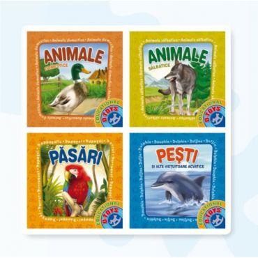 """Set 4 Cărți Pliante """"Animale"""""""