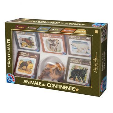 Animale din Continente cu Figurine de Animale