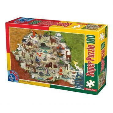 Super puzzle 100 Animale din Romania